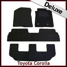 Toyota Corolla Verso Mk2 2004-2009 3-Rows Tailored LUXURY 1300g Car Mats BACLK