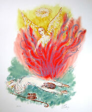 """REUVEN RUBIN Signed 1972 Original Color Lithograph from """"Visions of the Bible"""""""