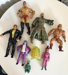 Bundle Of 8 Action Figures, Vintage, He Man, Ghostbusters etc.. Mixed Lot