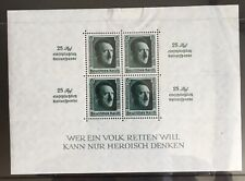 Germany Third Reich 1937 Block 11 MLH