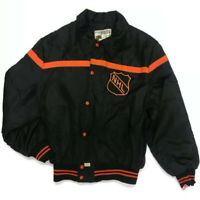 Vintage SHAIN NHL Jacket Size XL Hockey Black Orange DRY CLEANED