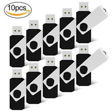 10 Pack 32GB Swivel Flash Drive Thumbdrive Pen Drive Rotating USB Memory Stick
