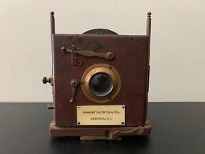 Antique Vintage MANHATTAN OPTICAL CO., (CRESSKIL, N.J.) Camera Lens
