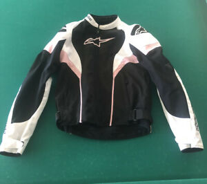 Medium Alpinestars Womens Stella T-SP S Waterproof Motorcycle Jacket Black//White//Fuchsia
