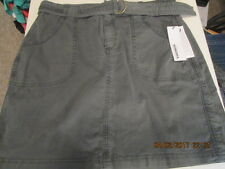 Misses Sonoma skirt w/belt and front pockets size 8 olive new with tags