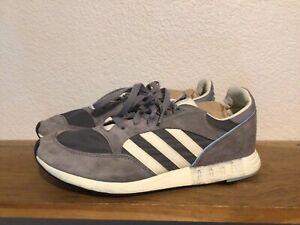 Men's Adidas Boston Super 84 Sz 9.5 Gray White Boost Casual Sneakers B26082