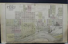 Illinois, La Salle County Map, 1929 City of Peru, Double Page