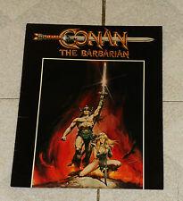 original CONAN THE BARBARIAN movie promo foldout advertisement Schwarzenegger