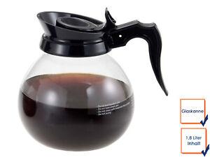 Gastro Glaskanne 1,8 Liter, Ersatzkanne Kaffeekanne Profi Filter Kaffeemaschine