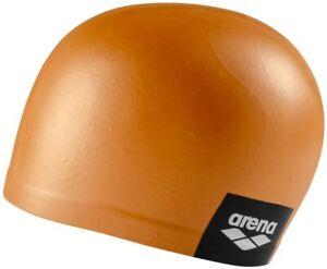 Arena Moulded Swim Swimming Cap Gold Orange Colour