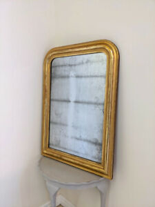 WONDERFUL FRENCH ANTIQUE LOUIS PHILIPPE GILDED MIRROR - C1850s
