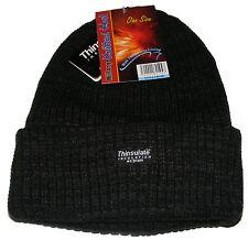 hommes tricot grosse maille bonnet noir chapeau avec Thermique Isolant fin -