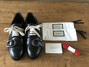 Black Gucci Queercore leather brogue monk shoes size 7