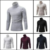 Sweater Pullover Knit Knitwear Jumper Turtle Neck Mens Warm Casual Winter