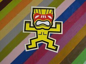 vtg retro revival Tiki themed surf street sticker - Farmers Market Hawaii Shaka