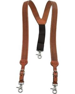 Nocona Suspenders Mens Galluse Leather Embossed Weave N8512448