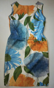 Vintage 50s/60s Shaheen Silk Floral Print Dress 6 Hawaiian Mod Shift
