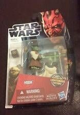 New 2012 Star Wars Yoda Figure Movie Heroes Whirling Lightsaber Action Hasbro