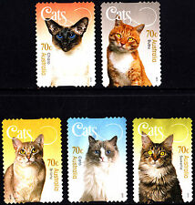 Australia 2015 Cats Complete set of  stamps S/A uncancelled no gum