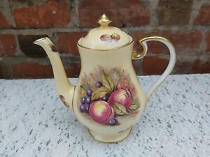 Aynsley Orchard Gold coffee pot