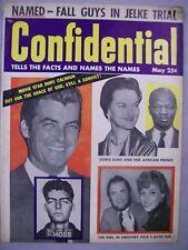 CONFIDENTIAL MAGAZINE MAY 1955 DORIS DUKE GREGORY PECK RORY CALHOUN