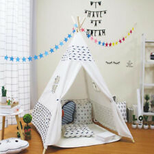 Children Kids Wigwam Teepee Play Tent Game Playhouse Foldable Tipi Out / Indoor