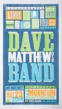 Dave Matthews Band Poster 5/23/2014 Oak Mountain Amphitheater Pelham AL