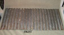 "Vintage Metal CORRUGATED TIN metal apprx 26"" x 12"" reclaimed ceiling roof sheet"