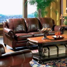 Coaster Furniture 500661 Princeton Leather Sofa In Tri Tone Burgundy