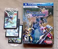 Ragnarok Odyssey: Mercenary Edition Limited w/ unopened cards PS Vita Brand New!