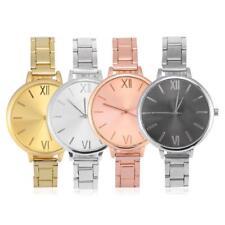 Luxury Ladies Women Girl Rose Gold Silver Quartz Big Dial Wrist Watch Watches GL