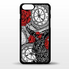 COVER per iPhone 6 Alice nel paese delle meraviglie fine arte WHITE RABBIT VINTAGE Gomma Custodia