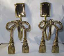 Vintage Brass Tie Back Curtin Holders Never Used Original Package Nice 6 avail