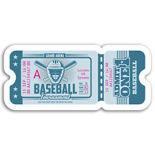 2 x 10cm Baseball Game Ticket Vinyl Stickers - Sports USA Sticker Laptop #17559