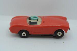 "Original Aurora T-Jet 500 Red/Tan #1370 ""AC COBRA"" HO Slot Car"
