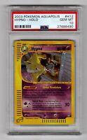 2003 Pokemon Aquapolis H12 Hypno - Holo PSA 10 Mitsuhiro Arita Art Gem Mint
