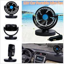 12V Car Fan 2 Speed Strong Wind Cooling Mini Electric Fan Autos Air Conditioner