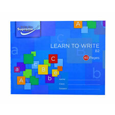 2 X Learn To Write Exercise Book Handwriting Practice Blue Cover B2 40 Pages