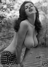 Vintage 1960s Jackie Miller Topless outdoor pose 8 x 10 Photograph