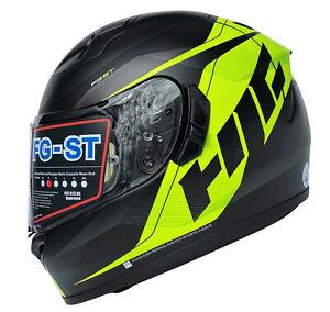 HJC FG-ST Crono Helm Motorradhelm Neongelb Schwarz Integralhelm Gr. S XL