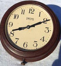 Antique art deco bakelite Smith 8 day railway station wall clock rare retro