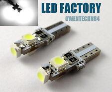4X White Canbus Error Free 3SMD 27 73 286 85 T5 LED For Car Gauge Cluster Lights