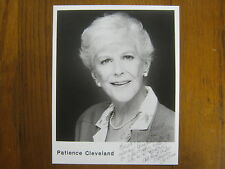 "Patience Cleveland(Died-2004)(&#03 4;Donnie Darko"")Signed 8 X 10 Black and White Photo"