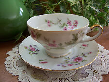 EW Princess China Tea Cup & Saucer FRENCH ROSE SAUCER & PETITE ROSE TEA CUP