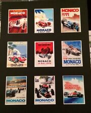 """Formula 1 MONACO Retrò Poster 14 """"DA 11"""" Picture MONTATO PRONTO ALL' INFISSO"""