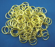 100 pcs 8mm gold plated GP strong open jump rings lead nickel safe findings