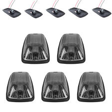 5pcs Smoke Lens Car Truck Cab Roof Top Marker Running Lights Cover & Lamp-Socket