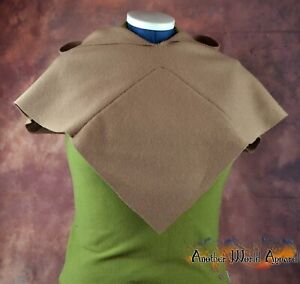 Plain Viking style wool hood in light brown L.A.R.P & Re-Enactment