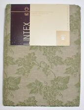 "Lintex 100% Cotton Tablecloth ~ Green Grapevines ~ 70"" Round **NEW**"