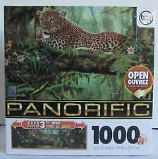 Sure-lox 1000 piece Jigsaw Panoramic Puzzle Big Cat Leopard SOLITARY HUNTER